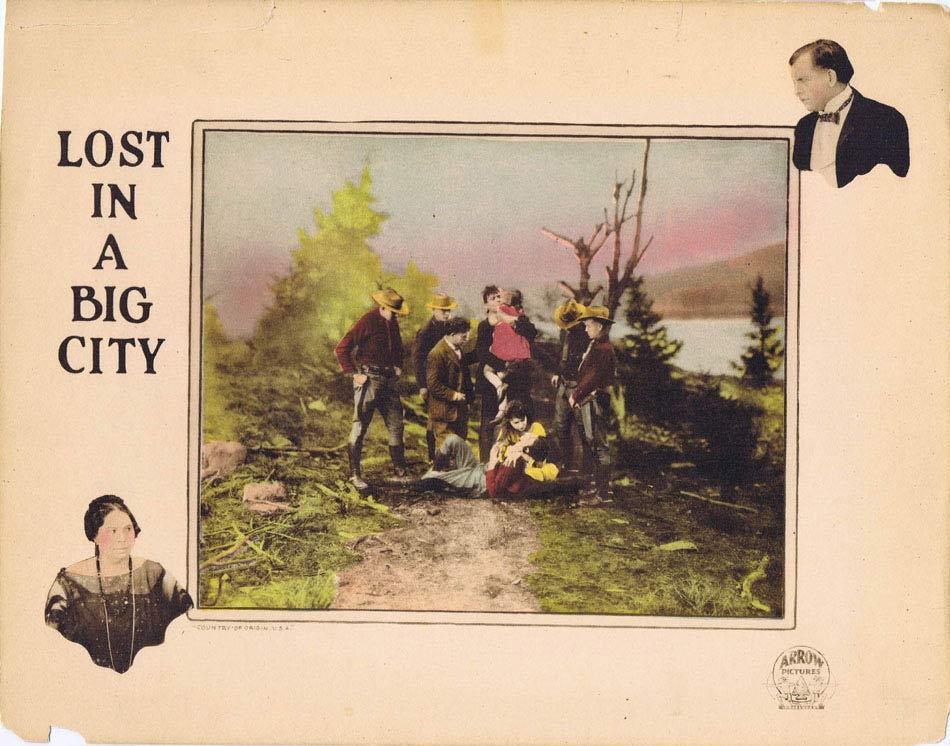 LOST IN A BIG CITY Lobby Card John Lowell Silent Cinema