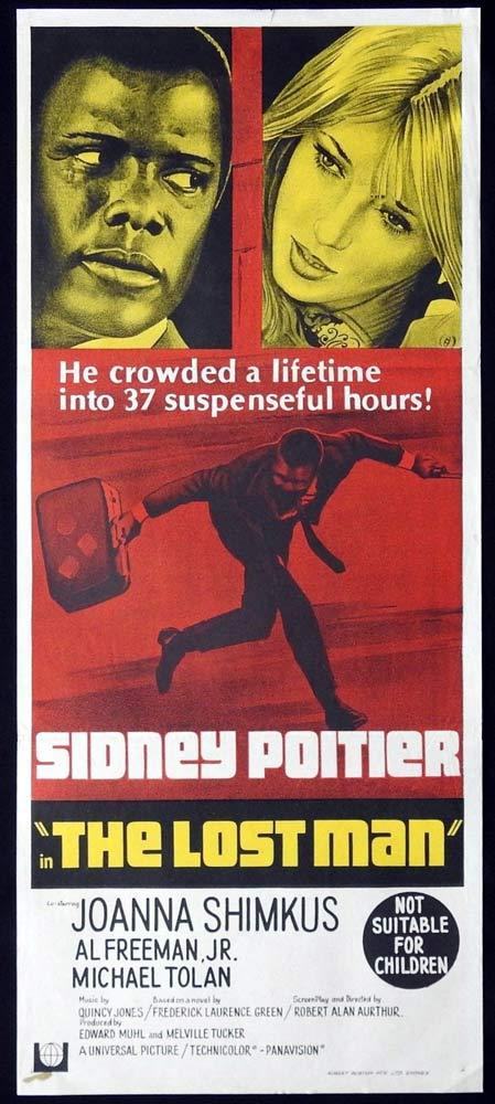 THE LOST MAN Daybill Movie Poster Sidney Poitier