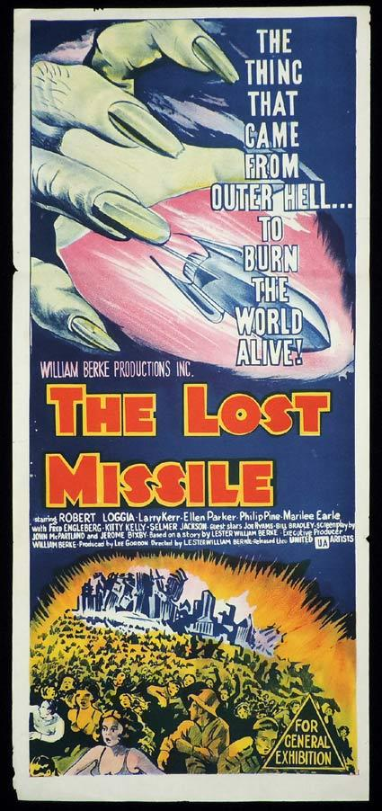THE LOST MISSILE Original Daybill Movie Poster Sci Fi