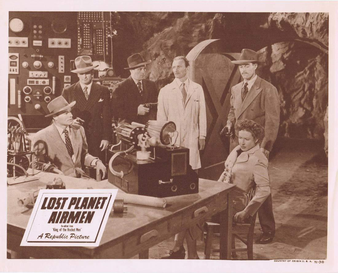 LOST PLANET AIRMEN Lobby Card King of the Rocket Men Republic Serial