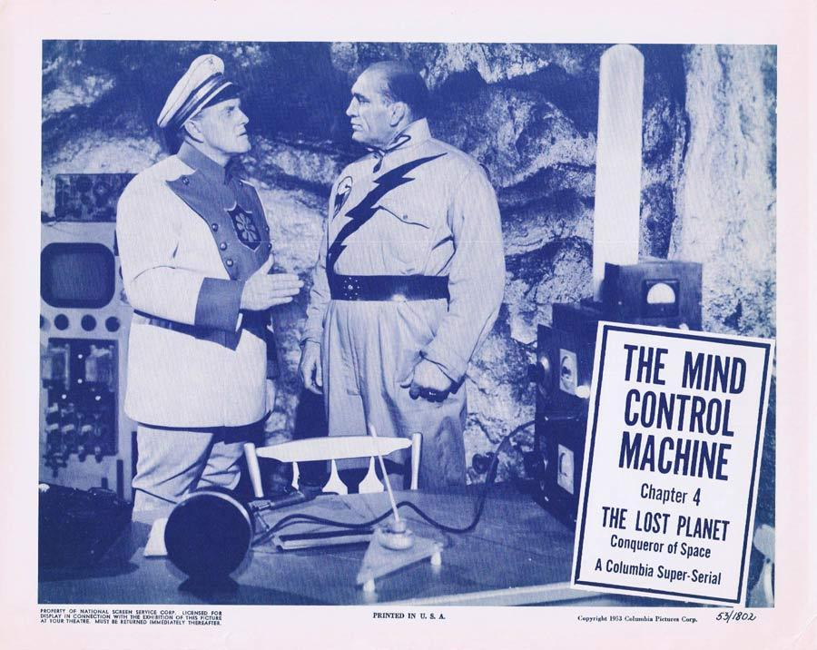 THE LOST PLANET Lobby card 3 MIND CONTROL MACHINE Serial
