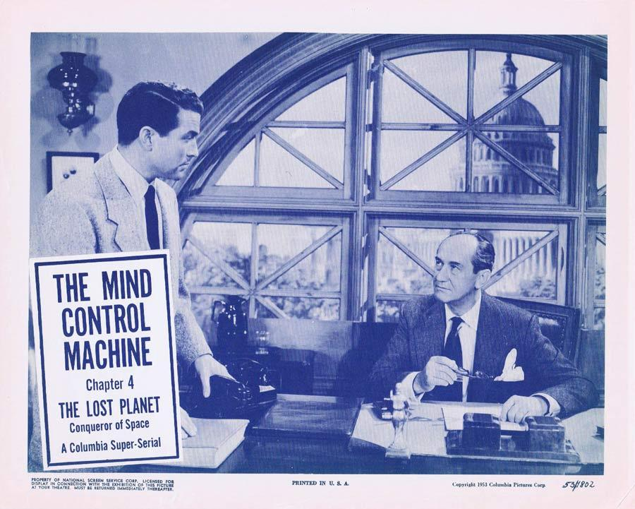 THE LOST PLANET Lobby card 4 MIND CONTROL MACHINE Serial