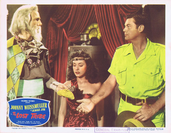 THE LOST TRIBE 1949 Lobby Card 2 Jungle Jim Johnny Weissmuller