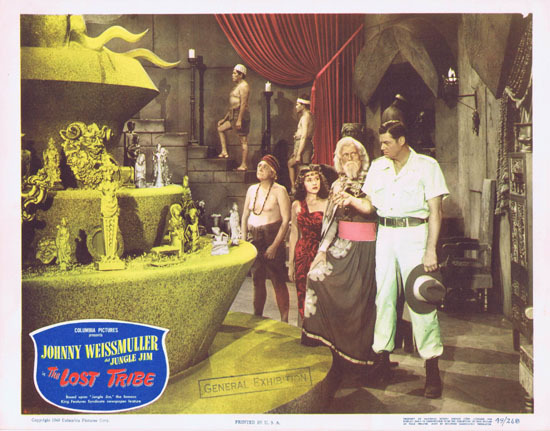 THE LOST TRIBE 1949 Lobby Card 4 Jungle Jim Johnny Weissmuller