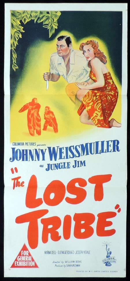 THE LOST TRIBE Original Daybill Movie poster Jungle Jim Johnny Weissmuller