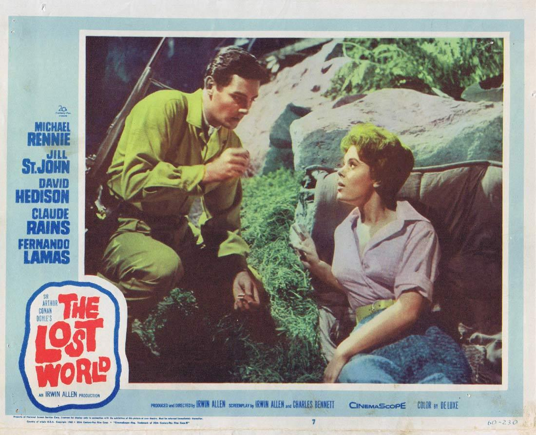 THE LOST WORLD Lobby card 7 Michael Rennie Jill St. John David Hedison