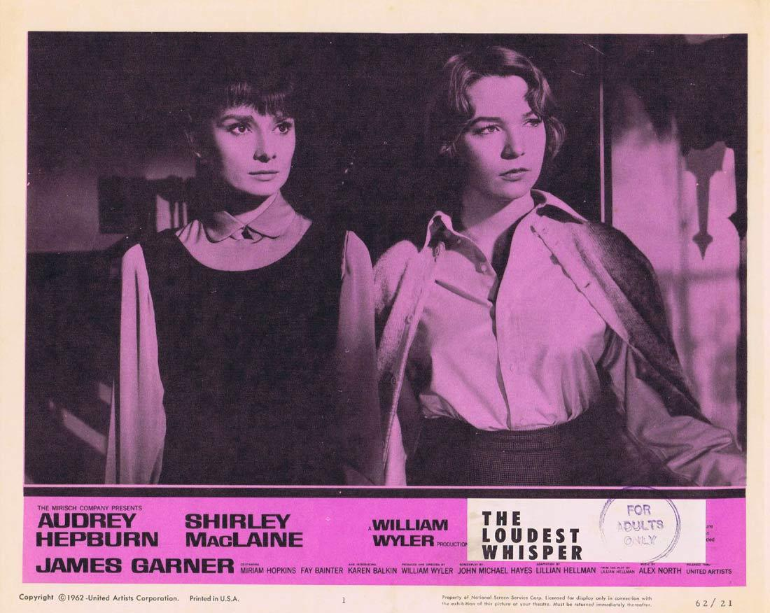 THE LOUDEST WHISPER Lobby Card 1 Shirley MacLaine Audrey Hepburn Childrens Hour