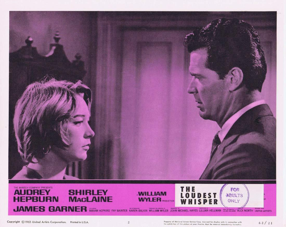 THE LOUDEST WHISPER Lobby Card 2 Shirley MacLaine Audrey Hepburn Childrens Hour