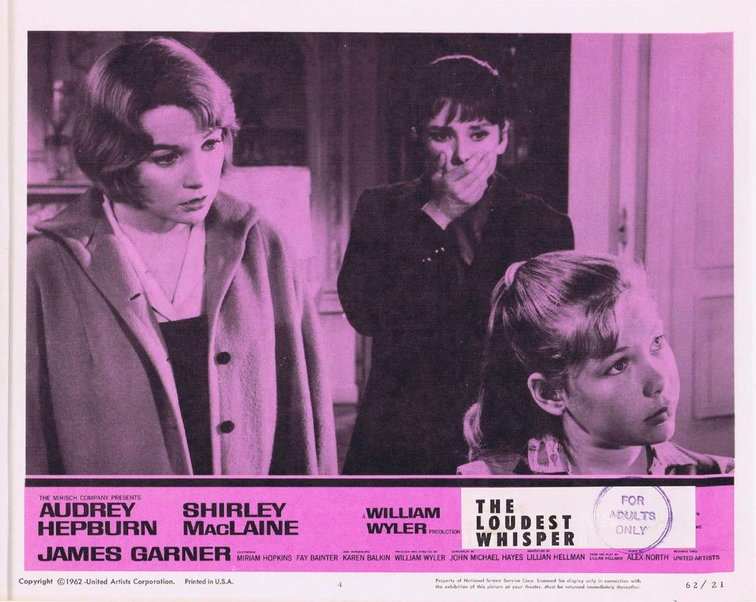 THE LOUDEST WHISPER Lobby Card 4 Shirley MacLaine Audrey Hepburn Childrens Hour