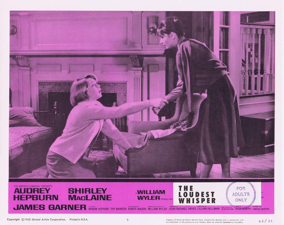 THE LOUDEST WHISPER Lobby Card 5 Shirley MacLaine Audrey Hepburn Childrens Hour