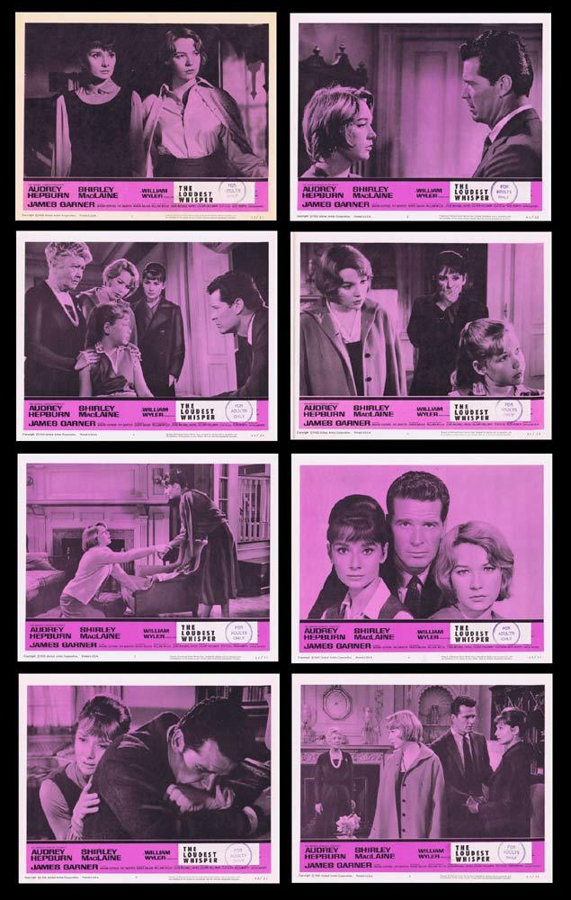 THE LOUDEST WHISPER aka CHILDREN'S HOUR Original Lobby Card set Audrey Hepburn