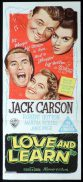 LOVE AND LEARN Original Daybill Movie Poster Jack Carson Martha Vickers