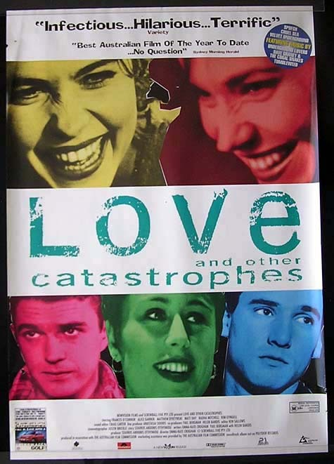 "LOVE AND OTHER CATASTROPHIES Style ""B"" Australian One Sheet Movie Poster"