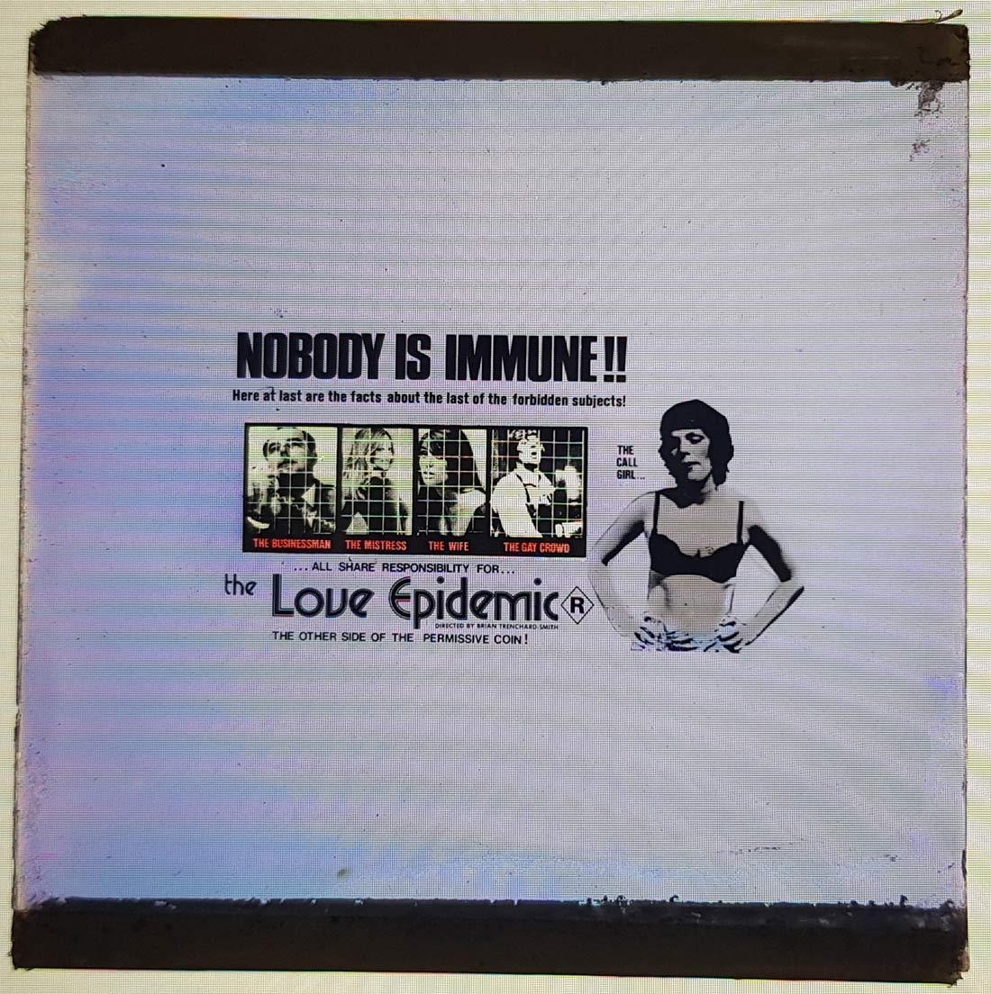 THE LOVE EPIDEMIC Movie Glass Slide Brian Trenchard-Smith