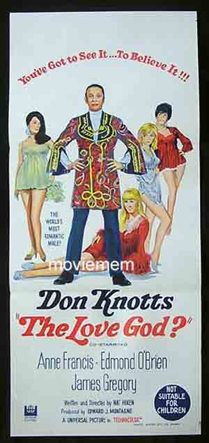 THE LOVE GOD? '69-Don Knotts-Anne Francis-RARE poster