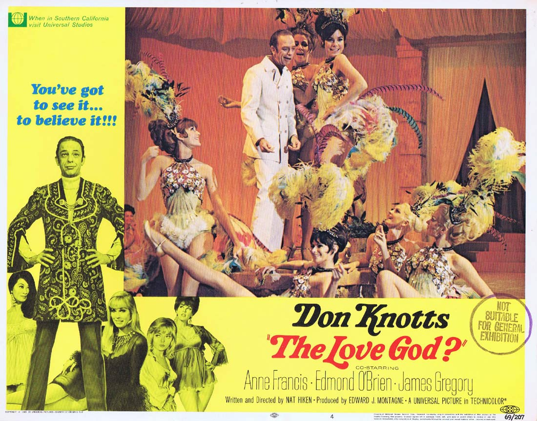 THE LOVE GOD Original Lobby Card 4 Don Knotts Anne Francis