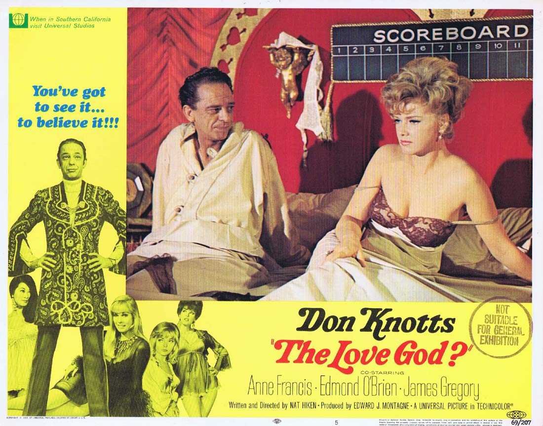 THE LOVE GOD Original Lobby Card 5 Don Knotts Anne Francis