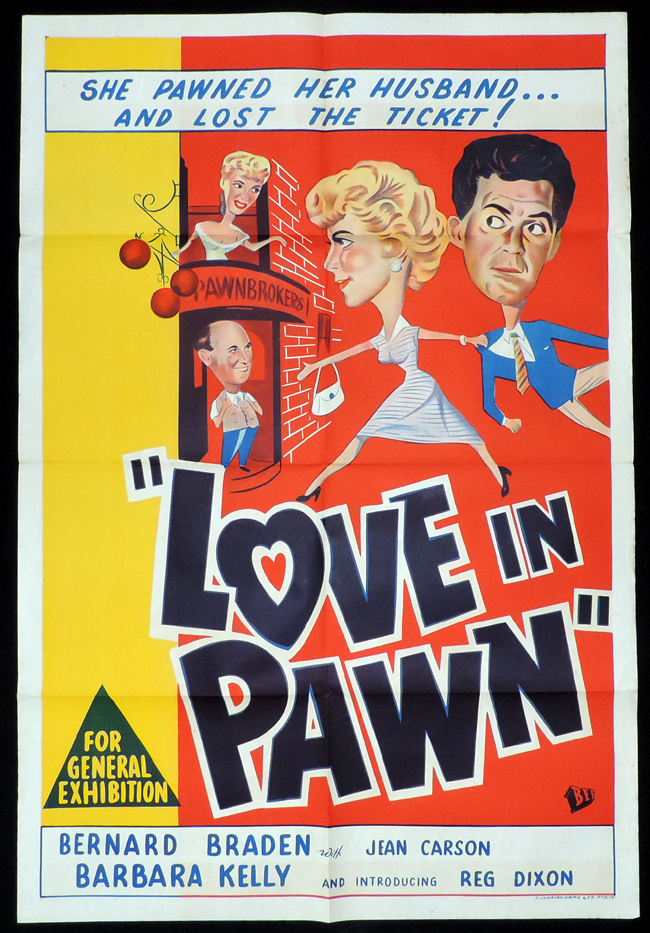 LOVE IN PAWN One Sheet Movie Poster Bernard Braden British Comedy