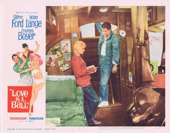 LOVE IS A BALL 1963 Glenn Ford Hope Lange Lobby Card 7