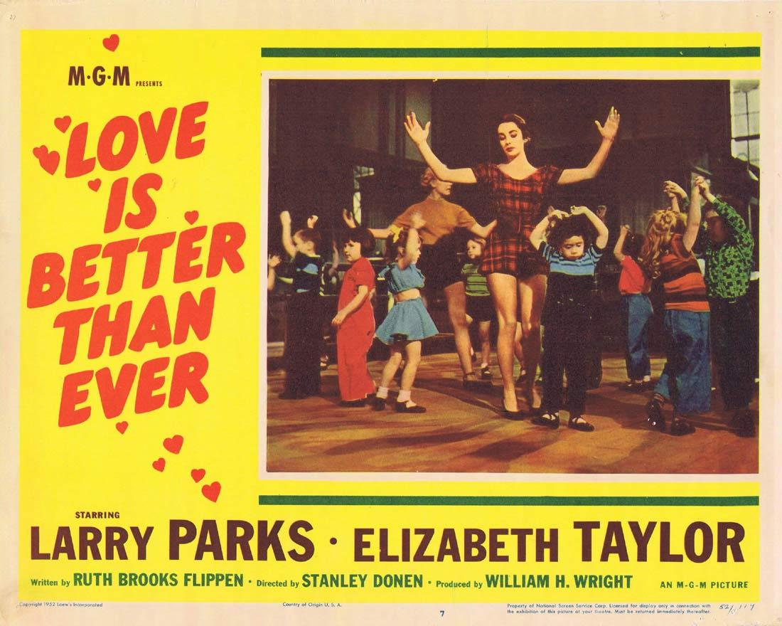 LOVE IS BETTER THAN EVER Elizabeth Taylor Lobby Card 7