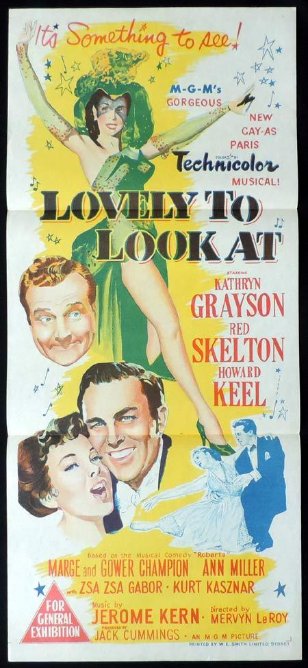 LOVELY TO LOOK AT Original Daybill Movie Poster Kathryn Grayson Red Skelton