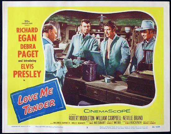 LOVE ME TENDER Lobby Card #5 1956 Elvis Presley