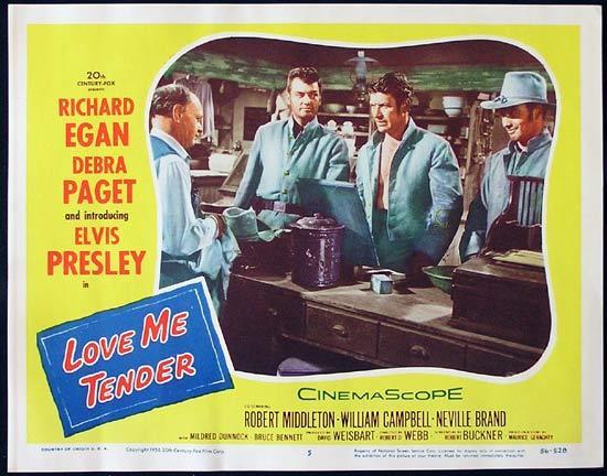love me tender lobby card 5 1956 elvis presley