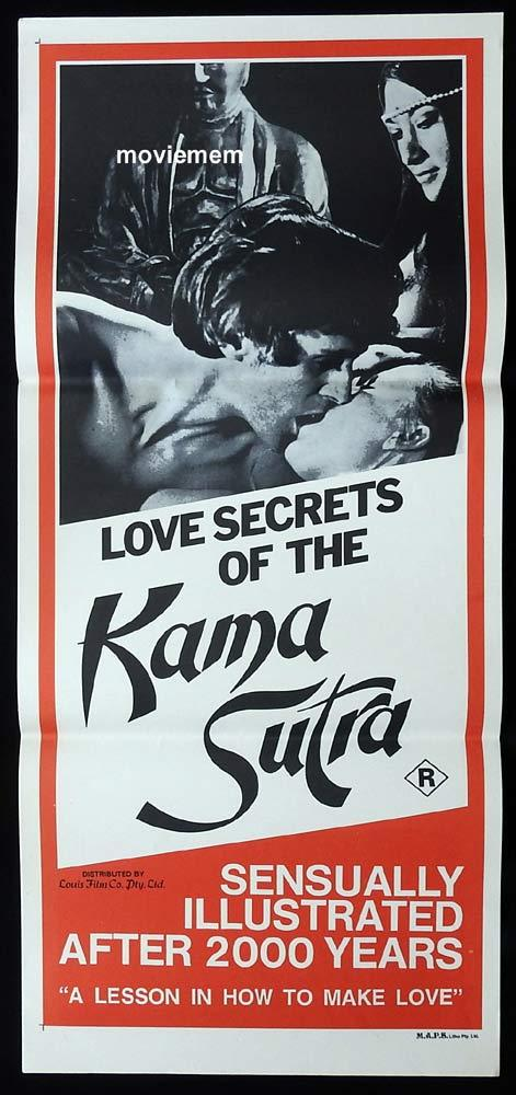 LOVE SECRETS OF THE KAMA SUTRA Original Daybill Movie poster Sexploitation John Holmes Uschi Digard