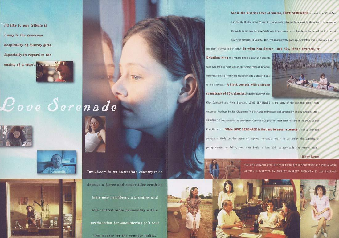 LOVE SERENADE Original Movie Progamme Miranda Otto Shirley Barrett