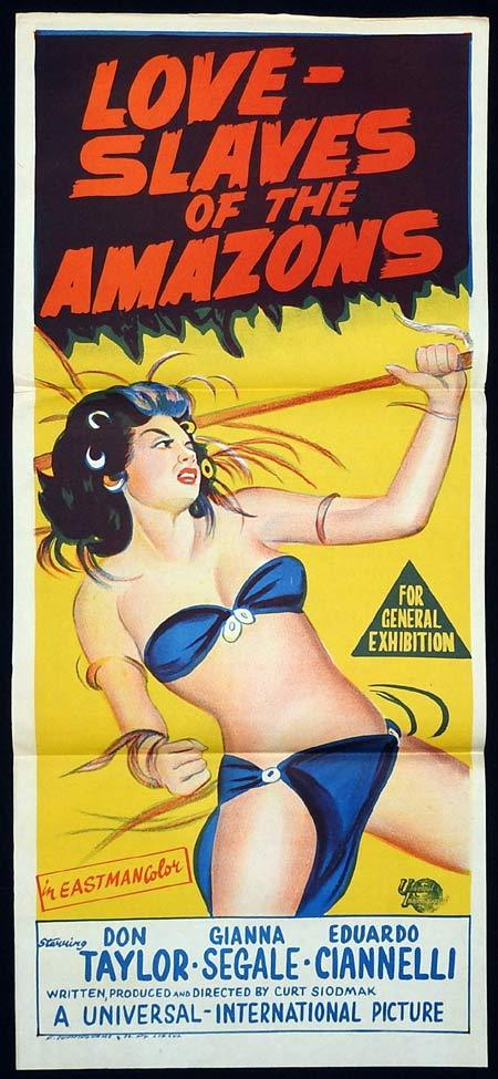 LOVE SLAVES OF THE AMAZONS Original Daybill Movie poster Don Taylor