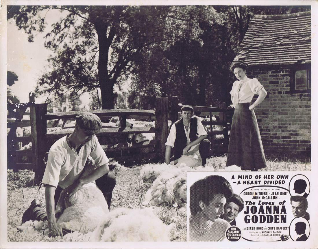 THE LOVES OF JOANNA GODDEN Original Lobby Card Googie Withers Chips Rafferty