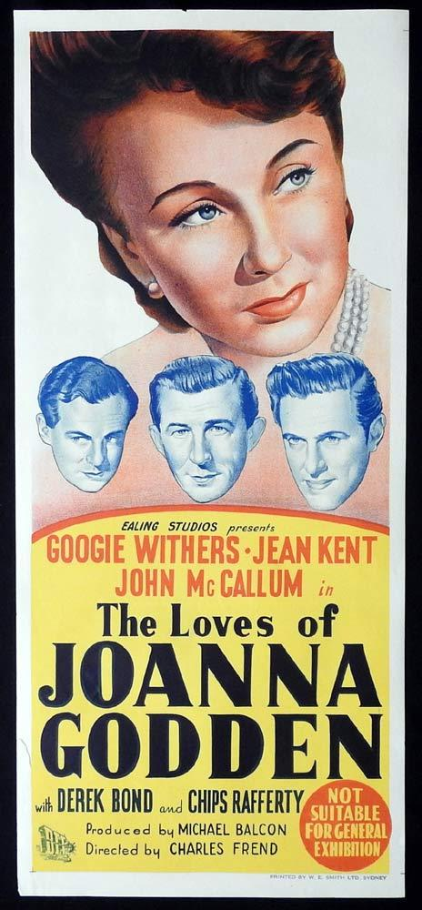 THE LOVES OF JOANNA GODDEN Original Daybill Movie poster Googie Withers Chips Rafferty