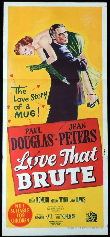 LOVE THAT BRUTE Original Daybill Movie Poster Paul Douglas Jean Peters