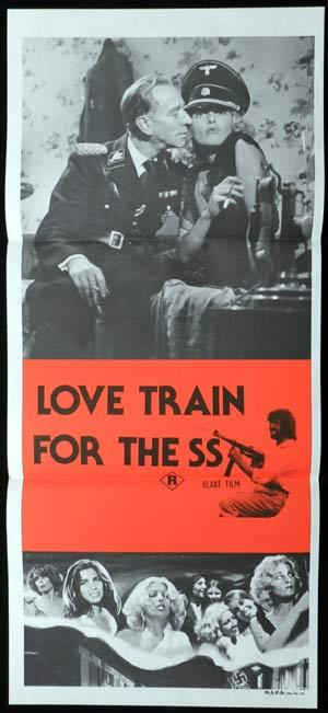 LOVE TRAIN FOR THE SS daybill Movie poster Helltrain Sexploitation