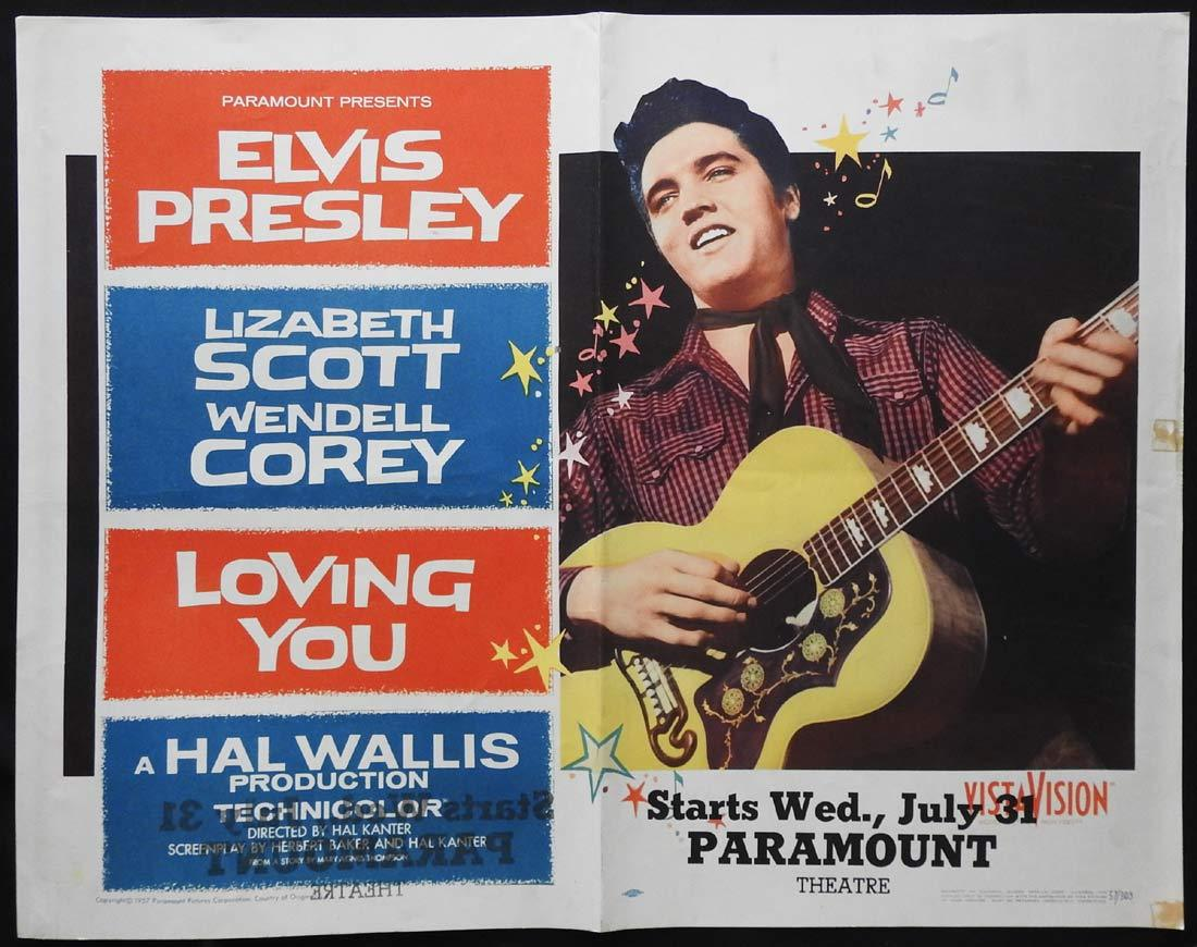 LOVING YOU Original US Half sheet Movie poster Elvis Presley