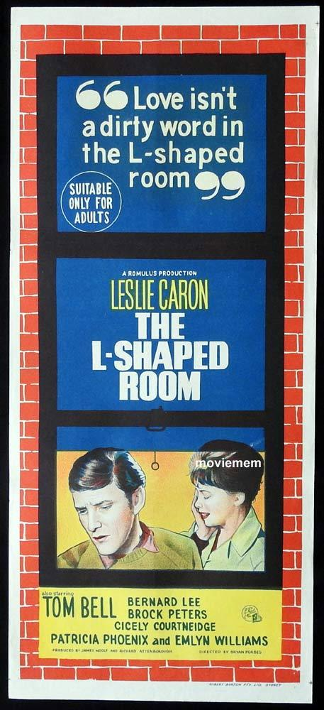THE L SHAPED ROOM Original Daybill Movie Poster Leslie Caron Tom Bell Anthony Booth