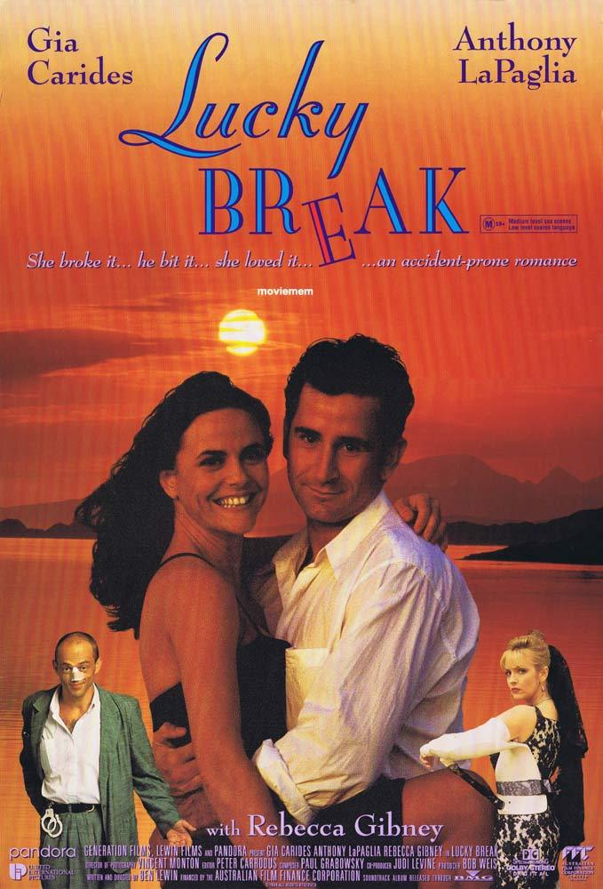 LUCKY BREAK Original Daybill Movie poster Gia Carides Anthony La Paglia
