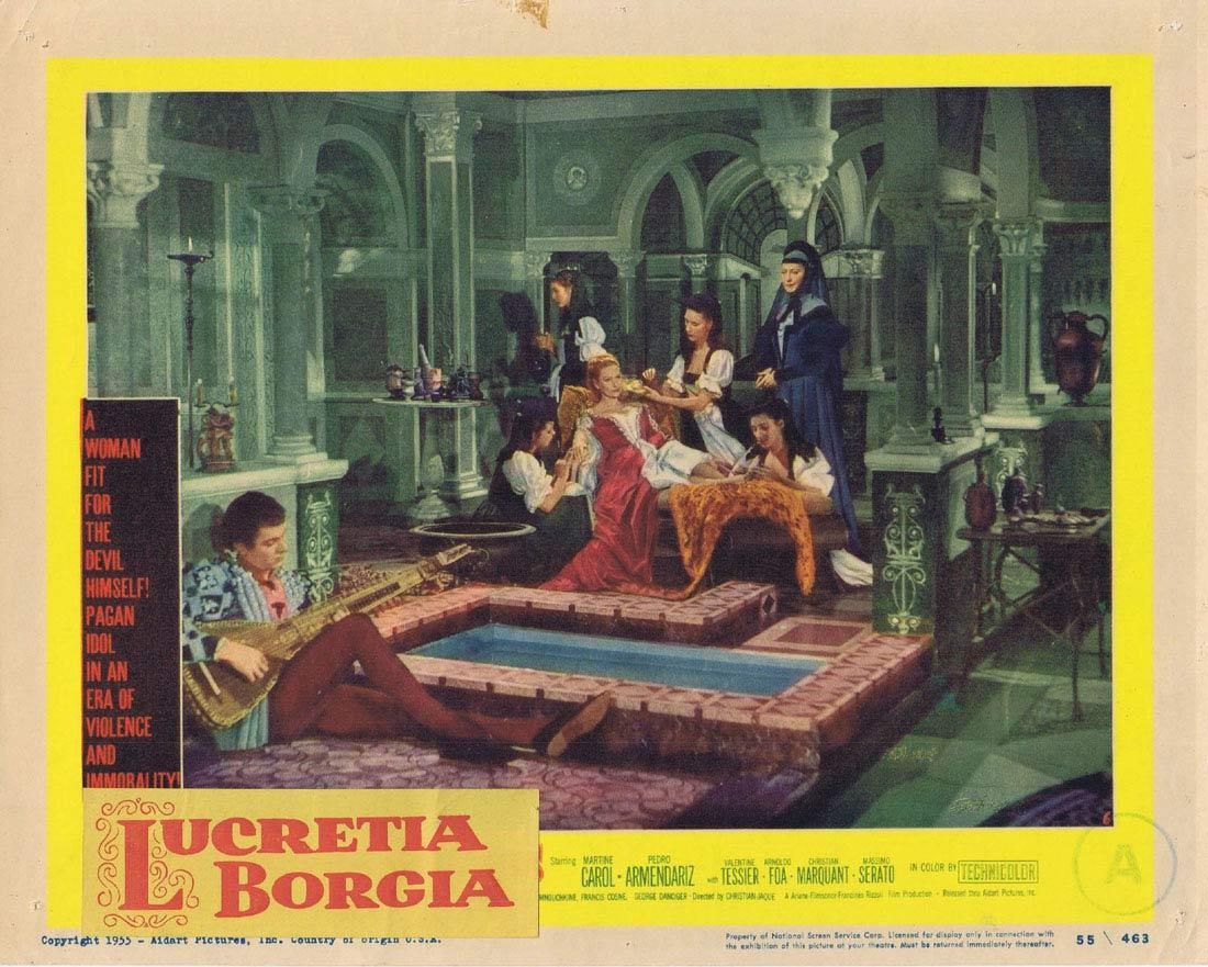 LUCRETIA BORGIA Lobby card 6 Martine Carol Pedro Armendáriz