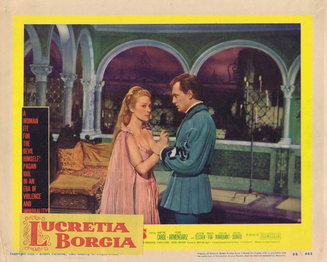 LUCRETIA BORGIA Lobby card 8 Martine Carol Pedro Armendáriz