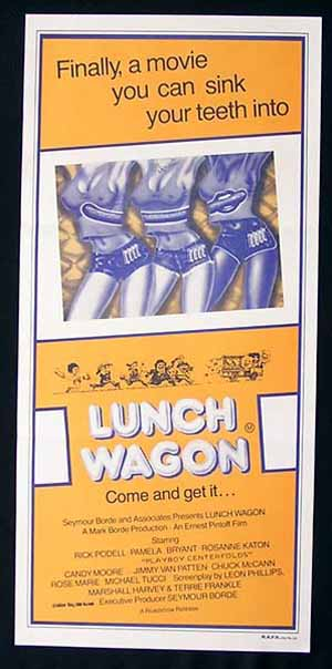 LUNCH WAGON, COME N' GET IT, Australian daybill, Movie Poster, Sexploitation