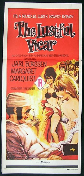 THE LUSTFUL VICAR 1970 Swedish Sex Comedy daybill
