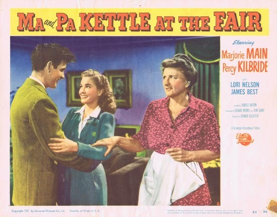 MA AND PA KETTLE AT THE FAIR Lobby Card 2 Marjorie Main Percy Kilbride