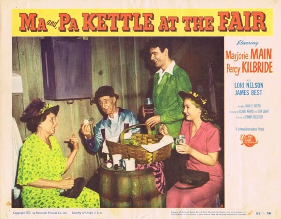 MA AND PA KETTLE AT THE FAIR Lobby Card 3 Marjorie Main Percy Kilbride
