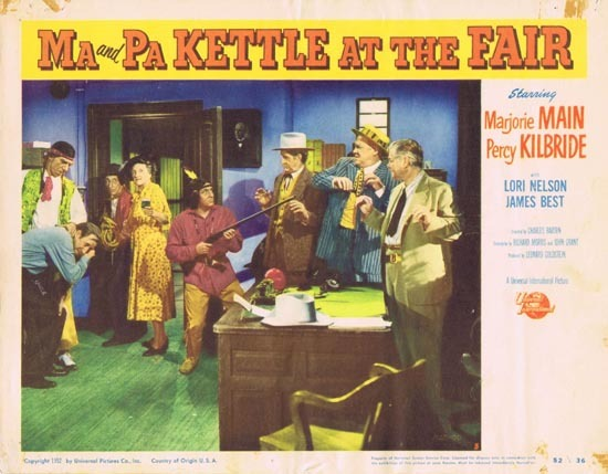 MA AND PA KETTLE AT THE FAIR Lobby Card 5 Marjorie Main Percy Kilbride