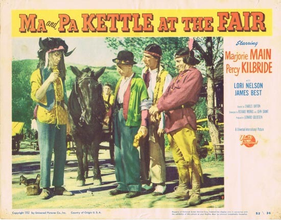 MA AND PA KETTLE AT THE FAIR Lobby Card 7 Marjorie Main Percy Kilbride