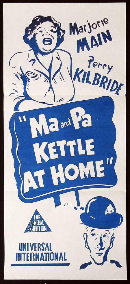 MA AND PA KETTLE AT HOME Original Daybill Movie Poster Marjorie Main Percy Kilbride
