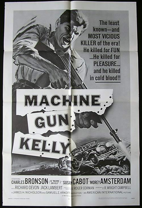 MACHINE GUN KELLY Original One sheet Movie poster Charles Bronson 1968r