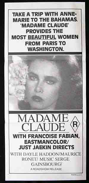 MADAME CLAUDE '77-Just Jaeckin Sexploitation poster