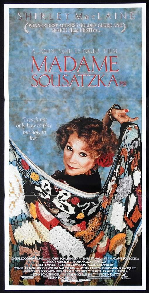 MADAME SOUSATZKA Original Daybill Movie poster Shirley MacLaine Navin Chowdhry