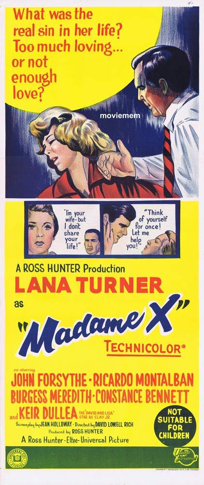 MADAME X Original Daybill Movie Poster Lana Turner John Forsythe